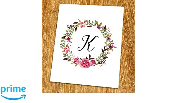 Initial Letter K Quote Wall Art Print