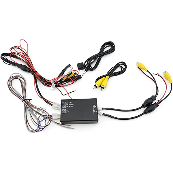Car Front//Rear Parking View Camera Video 2 Channel Control Box Converter Kits