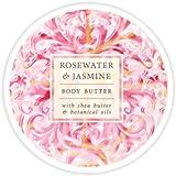 Greenwich Bay Botanic Body Butter Rosewater & Jasmine 8oz Tub