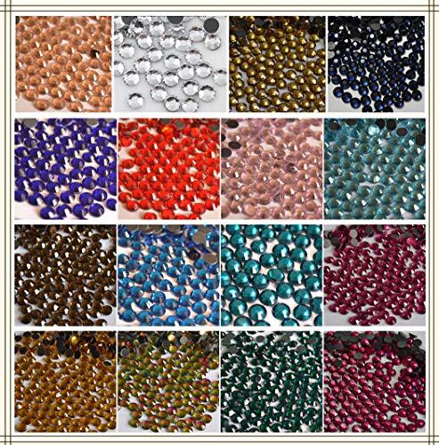 FidgetFidget SS16-SS30 Crystal Glass DMC Hotfix Rhinestones Flatback Diamante Iron-on #8 Light Green SS30 288PCS
