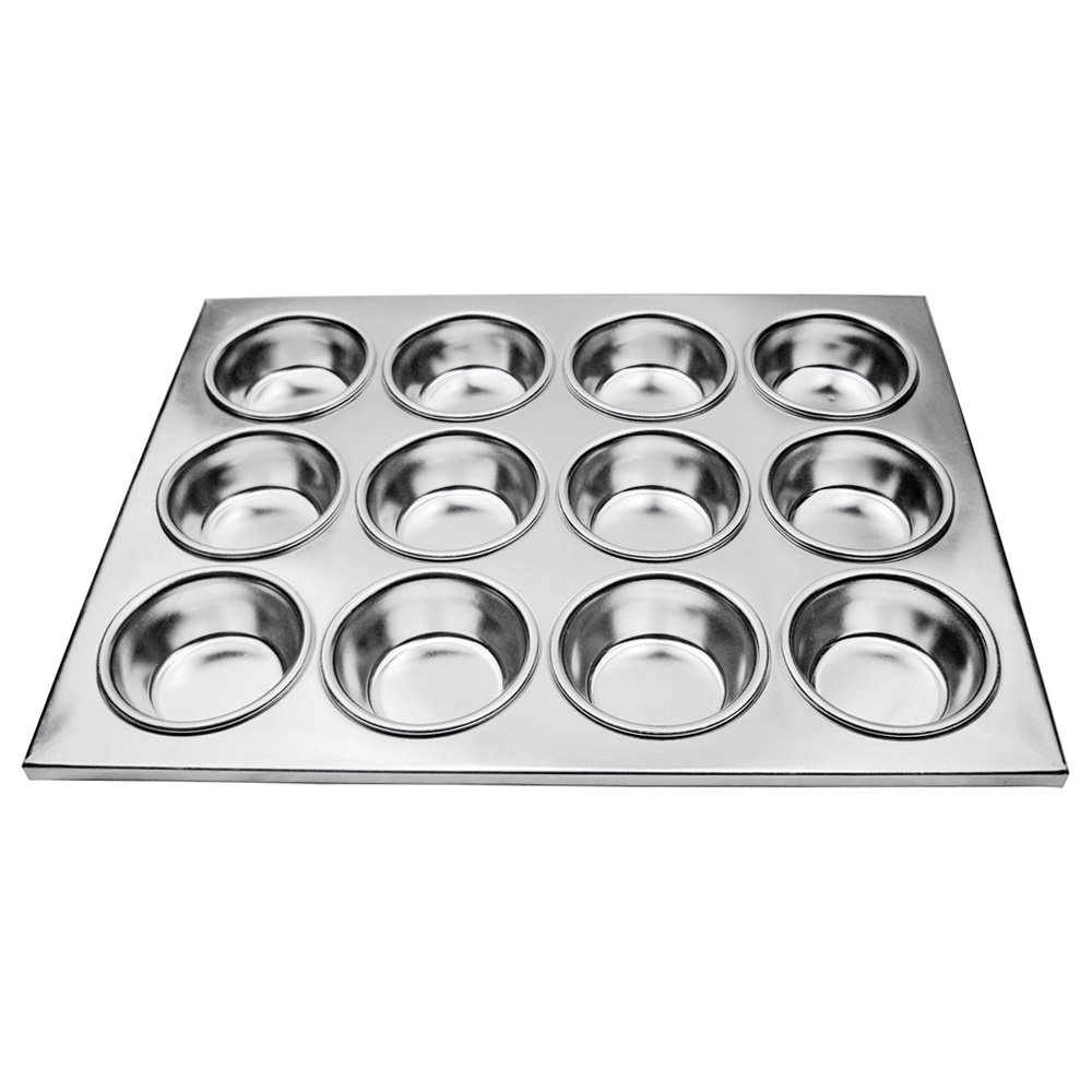 New Star Foodservice 37906 Aluminum Muffin Pan with 12 Cups (Pack of 12)