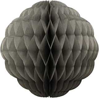product image for 3-Pack 8 Inch Honeycomb Scalloped Tissue Ball Party Decoration (Gray)