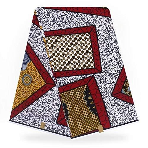 (Pukido Ankara African Wax Print Fabric On Sale 2018 Flower Print Cloth Hollandais Wax Latest Super Wax Holland 100% Cotton - (Color: as)