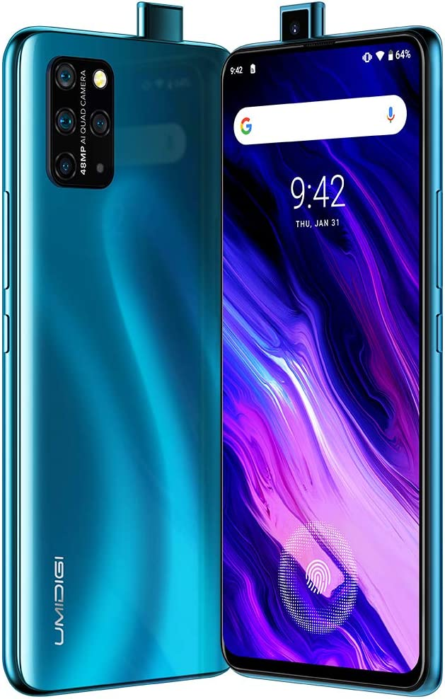 UMIDIGI S5 Pro Unlocked Cell Phones(6GB+256GB) 6.39 FHD+ Ultra FullView Display, Quad Camera(48+16+5+5MP) Smartphone with in-Screen Fingerprint Sensor, 4680mAh High-Capacity Battery.