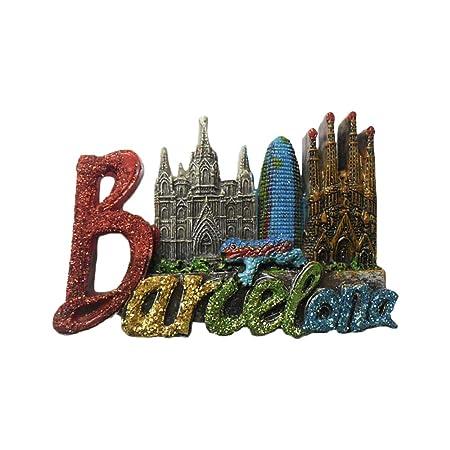 3D Barcelona Cartas España Refrigerador Nevera Imán Recuerdos ...