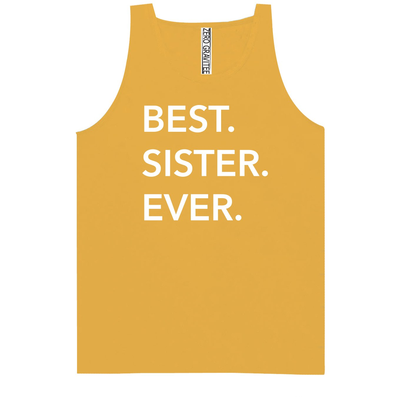 Pigment Dyed Ringspun Tank Tops in 12 colors YOUTH Best Sister Ever