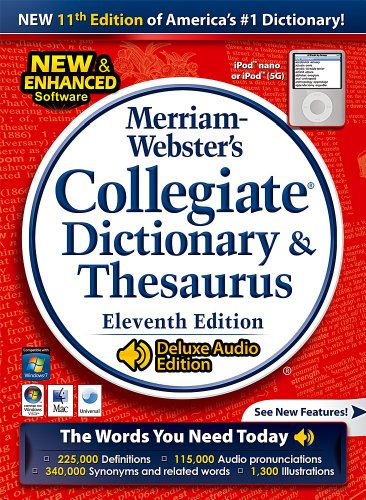 Merriam Webster's Collegiate Dictionary & Thesaurus:  Classroom/ Site License - 15 users [Download] by Fogware Publishing
