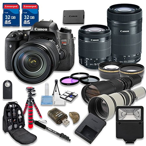 Canon EOS T6s DSLR Camera Bundle with Canon EF-S 1...