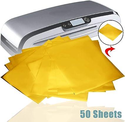 50 hojas oro caliente papel de transferencia de calor papel ...