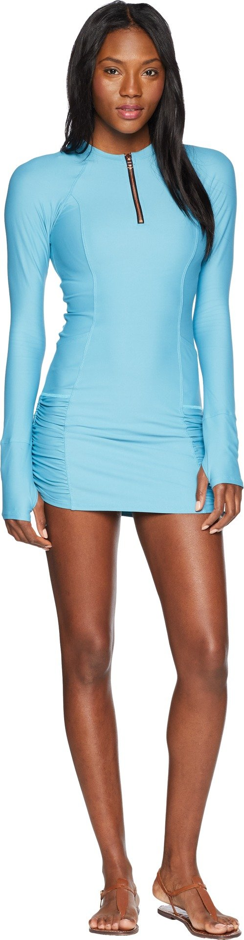 Next Women's Feeling Fine Hydrate Zip Rashguard Dress, Feeling Fine Ocean, Small