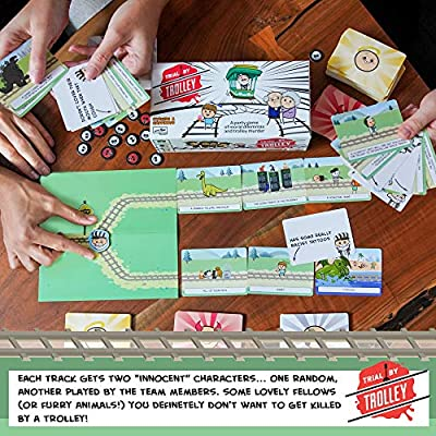 Trial by Trolley: an Adult Card Game of Moral Dilemmas and Murder | Party Game by Skybound Games and Cyanide and Happiness | 3-12 Players, Ages 18 and Up: Toys & Games