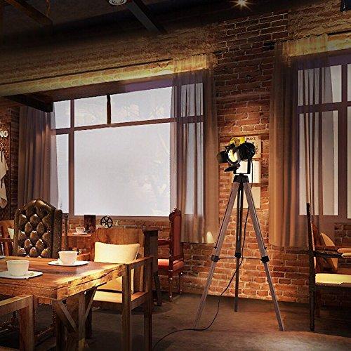 Vintage Cinema Tripod Lamp Retro Movie Studio Spotlight