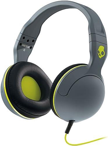 Skullcandy Hesh 2 Lifestyle Wired Headphone – Gray Black Hot Lime One Size