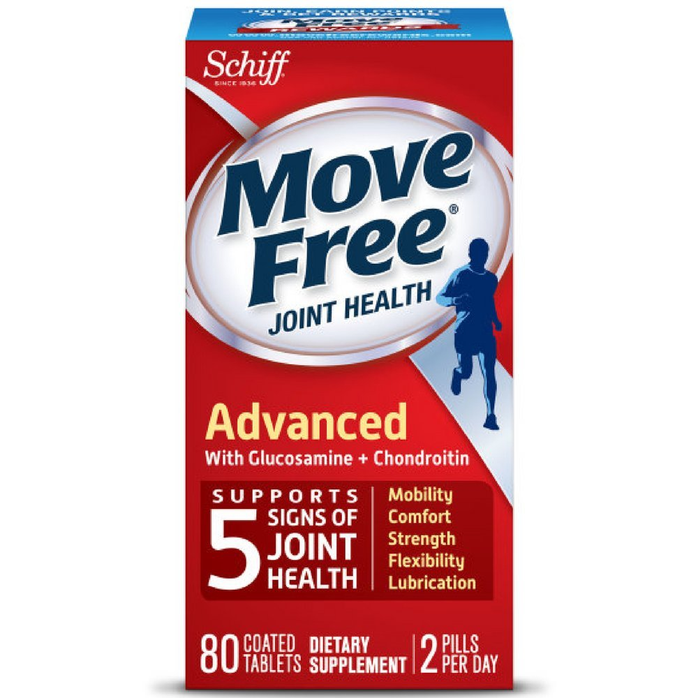 Move Free Advanced, 80 tablets - Joint Health Supplement with Glucosamine and Chondroitin (Pack of 7) by Schiff (Image #1)