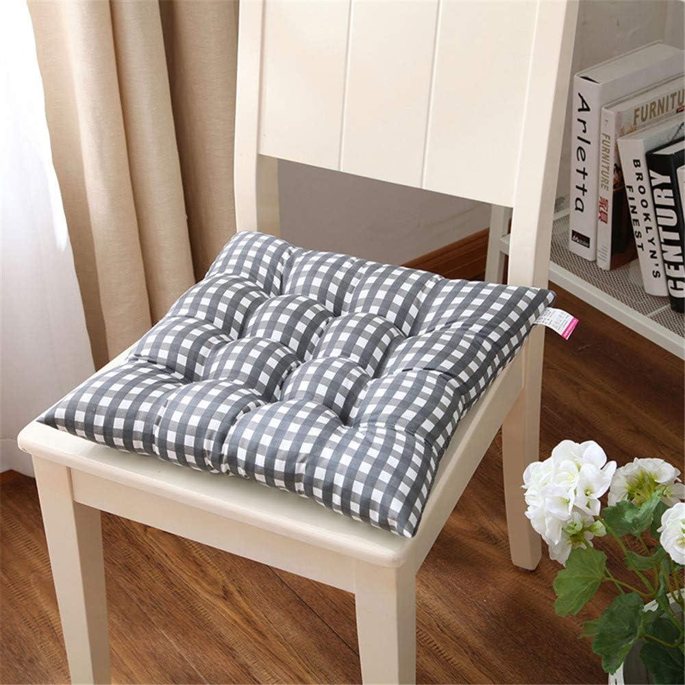 40 x 40 x 7 cm LucaSng per Interni ed Esterni Imbottitura Spessa Blu 100/% Cotone Set di 4 Cuscini per sedie