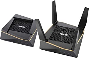 Asus RT-AX92U AX6100 Tri-Band Wi-Fi 6 Mesh Router with 802.11Ax, Lifetime Aiprotection Security by Trend Micro, Aimesh Compatible, Adaptive Qos & Parental Control