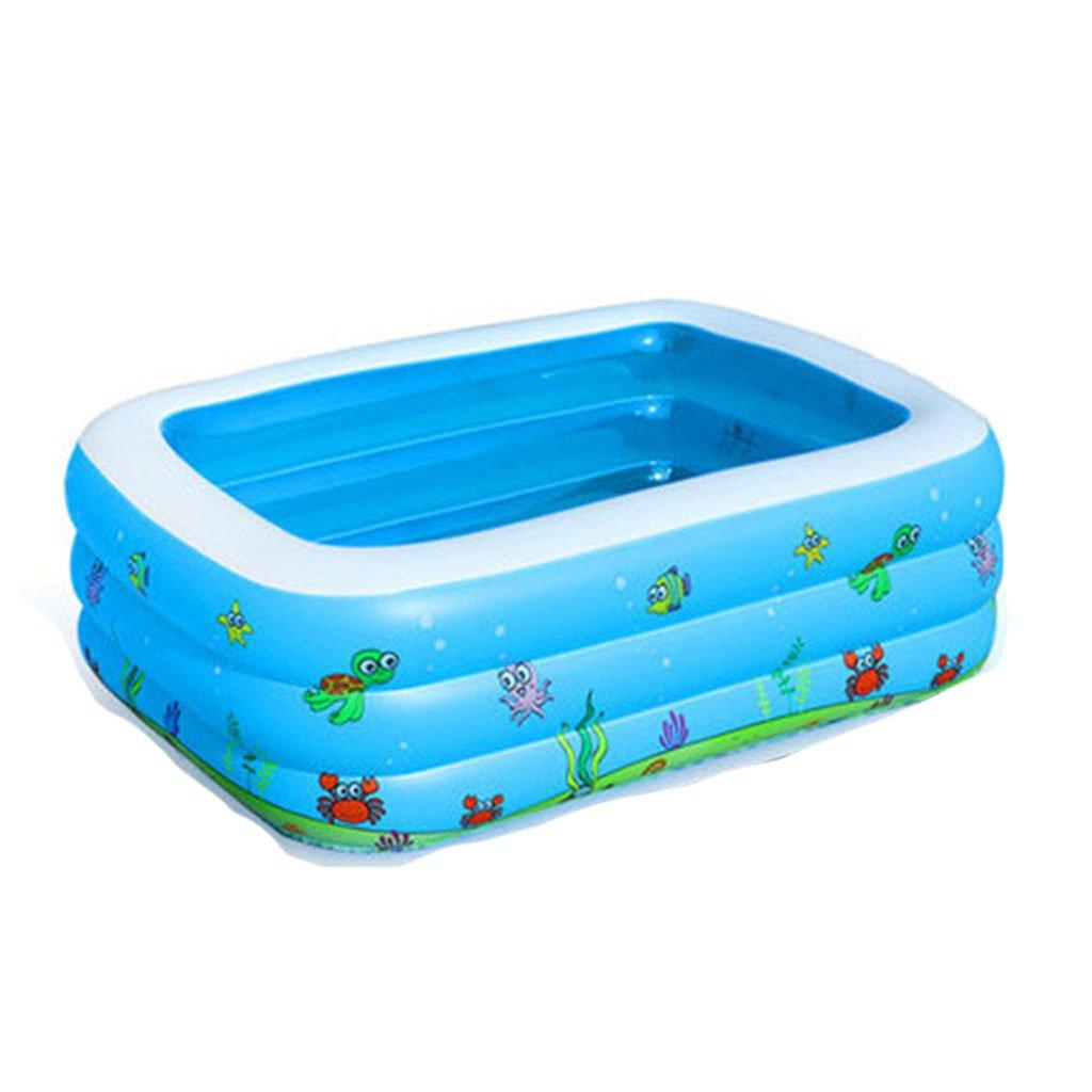 LPYMX,Gepolsterte Badewanne Kinder Pool Dicker großer Pool Erwachsenen Familie Badewanne Aufblasbarer Pool Blau Badewanne (größe   130cm90cm50cm)