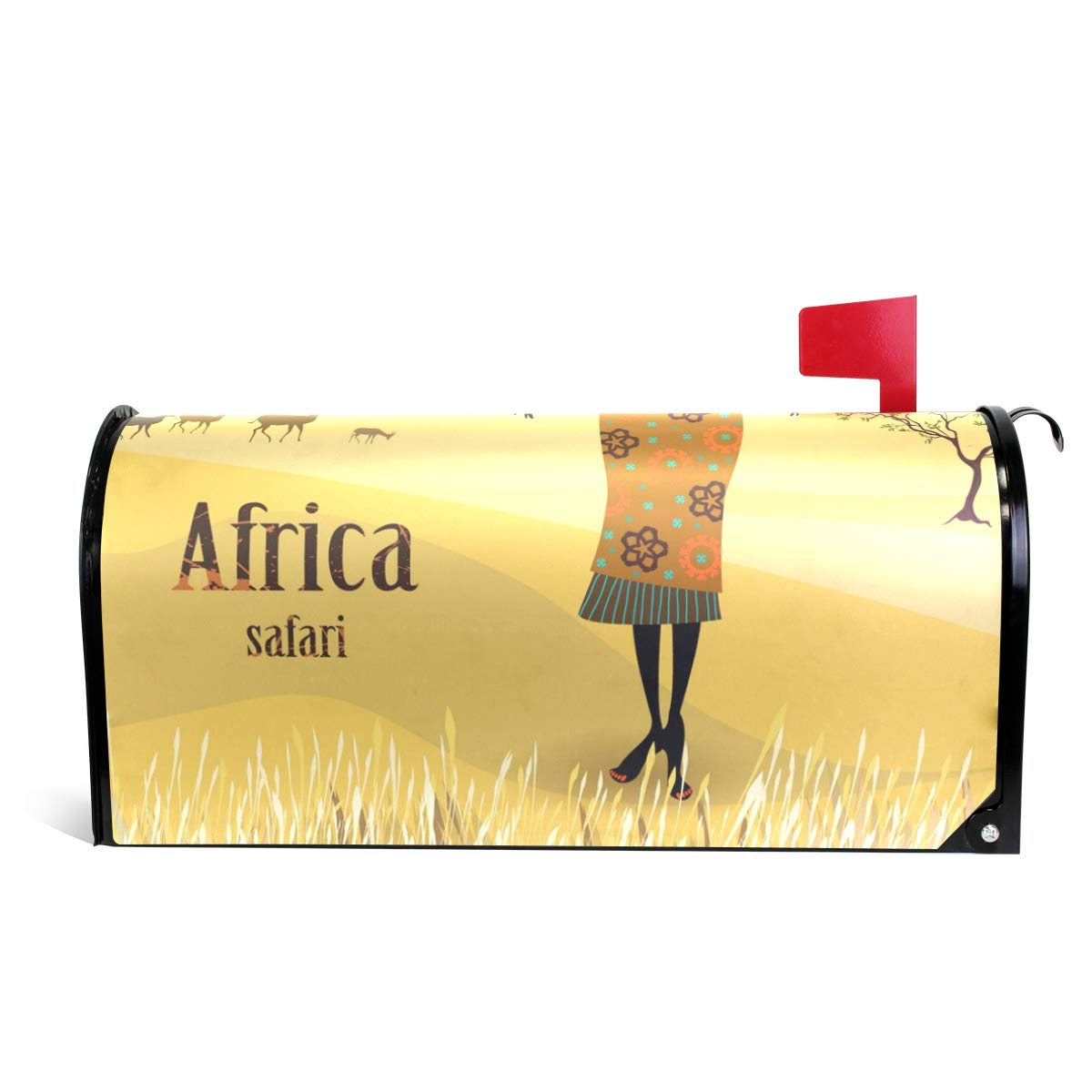 MAPOLO African Women in Mountain Landscape Magnetic Mailbox Cover Oversized