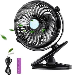 Ventilador USB , otumixx Mini Ventilador Clip Portátil Recargable Bateria Ajustable Rotación 360º Silencioso Ventilador de Mesa para la Oficina, Hogar,Viajar, Acampar, Cochecito de Bebé: Amazon.es: Electrónica