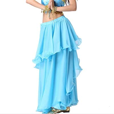 2019 Ladies' Belly Dance Chiffon Spiral Skirt Multi-layered Skirt-Mother's Day Gift
