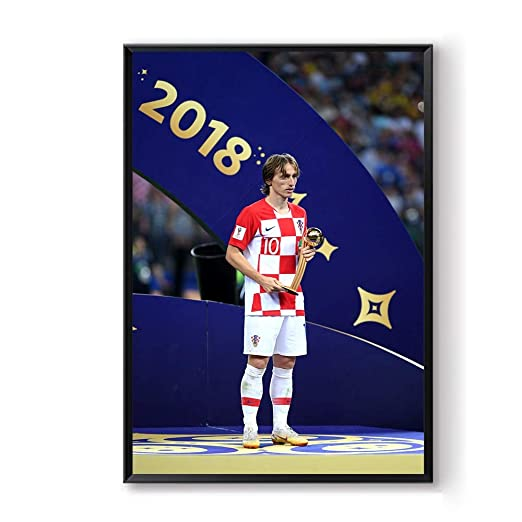 jzxjzx Carteles Fútbol Balón de Oro Deporte Lienzo Pintura Modric ...