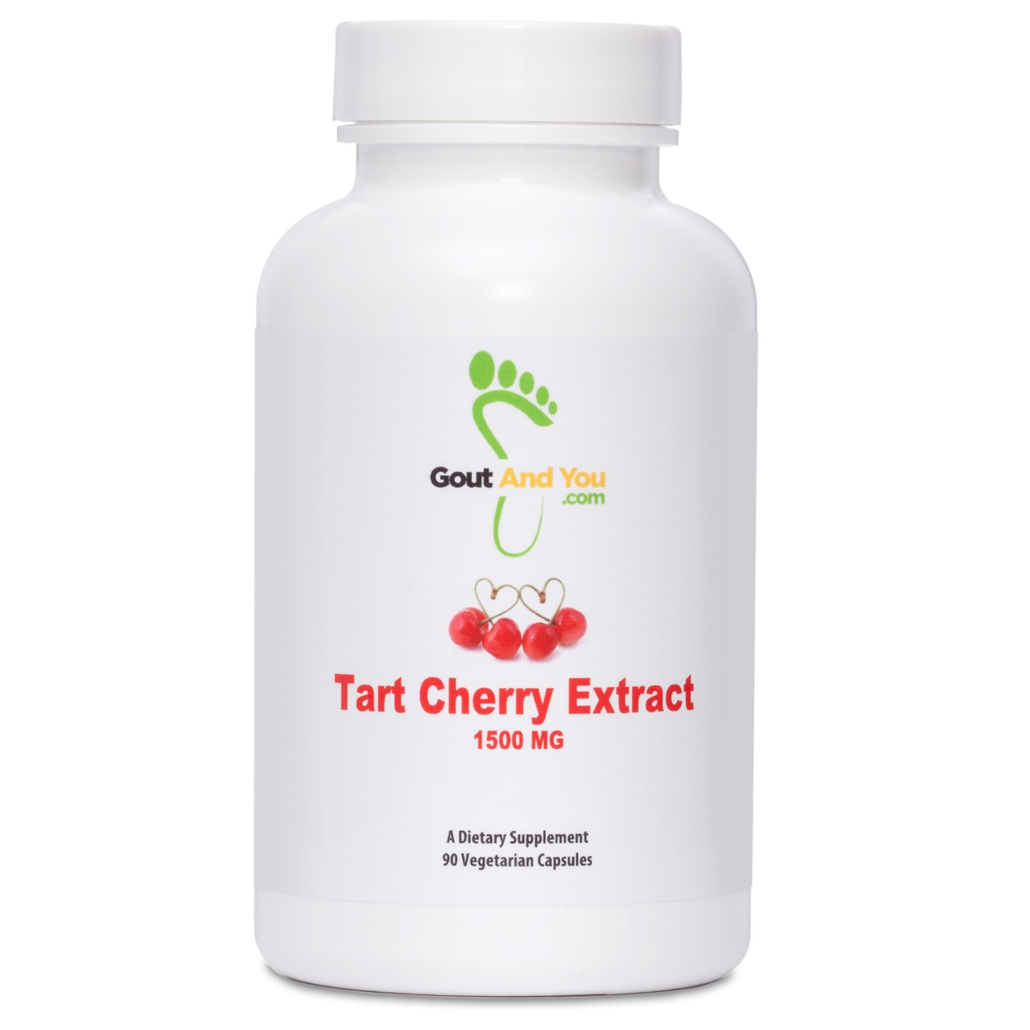 Tart Cherry Extract by GoutandYou - Highly Potent- 1500 mg - 90 Caps