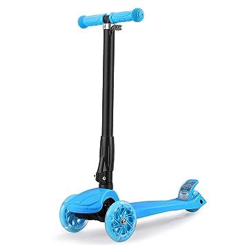 GOSFUN EU Patinete Niña Patinete de 3 Ruedas con Diseño Scooter para Niños de 2 a 12 Años de Edad + Rodillera (Azul)