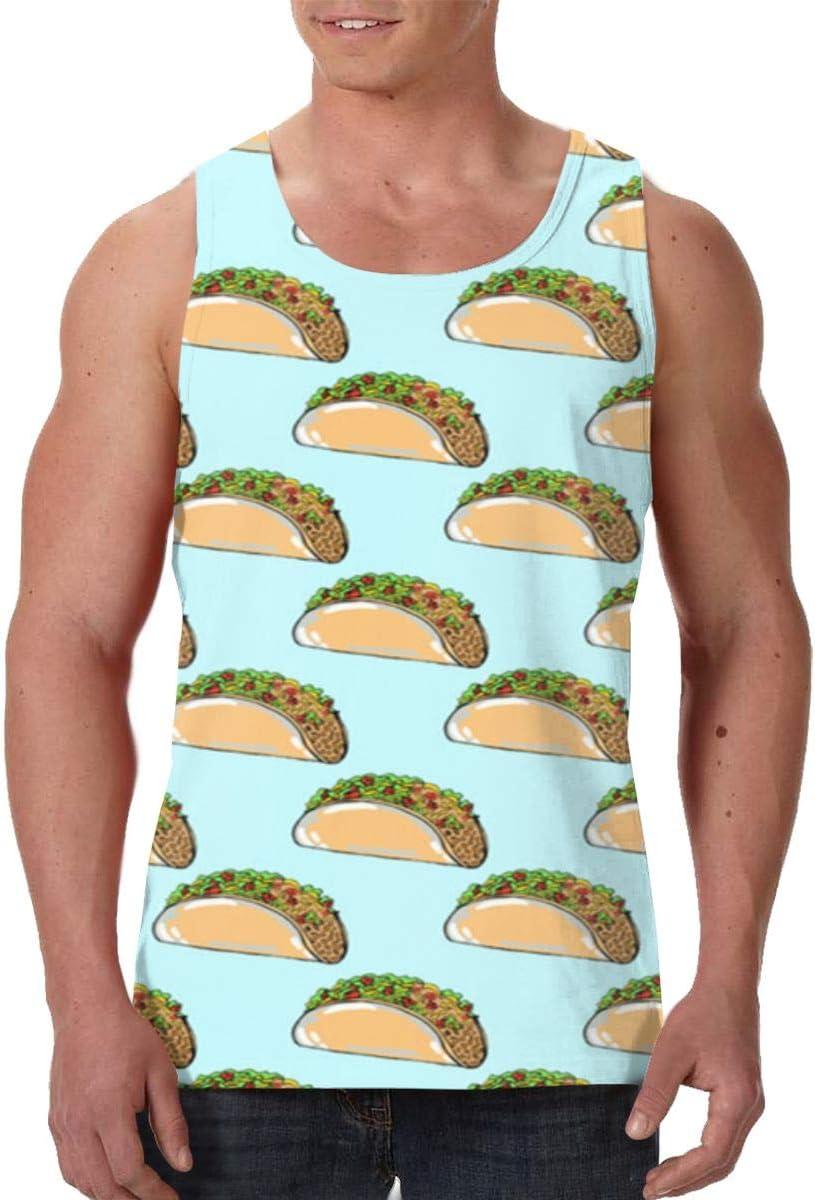 SHARP-Q Tacos Men Tank Vest Man Funny Tank Tops