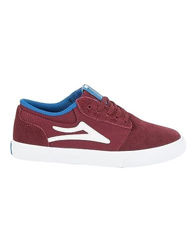 Lakai Kids Griffin Skate Shoe, Burgundy Suede - Skate/Fashion Shoes UK 3 (
