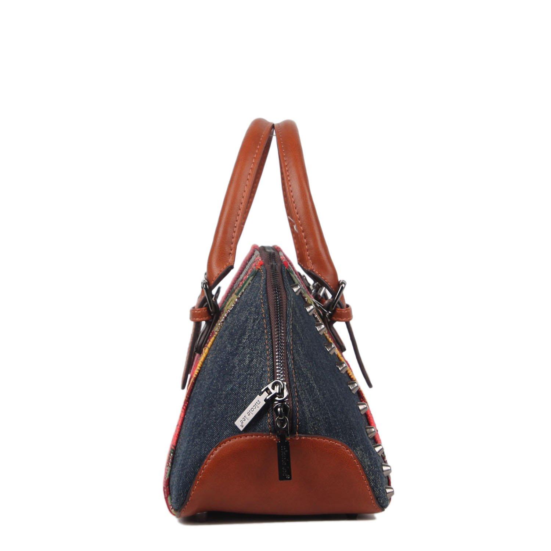 Nicole Lee Mujer JS12457-DE cartera bohemio Erla Denim Talla única: Amazon.es: Zapatos y complementos