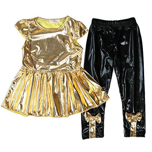 Zeagoo Baby Girls Shirt Dress + Legging Pants Casual Clothes Sets Suit Outfits