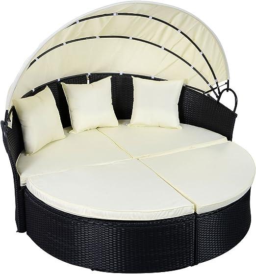 Scream Store Terraza día Cama 2 en 1 conversación convertir a Silla sofá para Exterior Muebles sofá Patio Patio o Uso en Piscina salón Cubierta: Amazon.es: Jardín