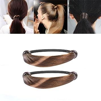 Damen Frauen Blatt Haar Band Seil Stirnband-elastische Pferdeschwanz Halter