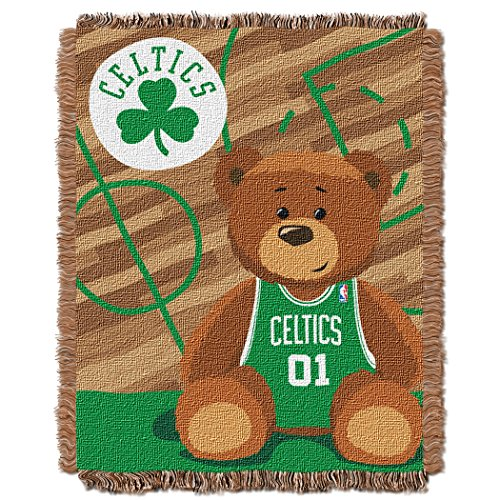 The Northwest Company Officially Licensed NBA Boston Celtics Half Court Woven Jacquard Baby Throw Blanket, 36