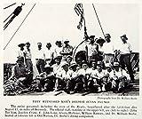 1934 Print Crew Ocean Dive John Tee-Van Dr. William Beebe Ready Barge Ship NGMA5 - Original Halftone Print