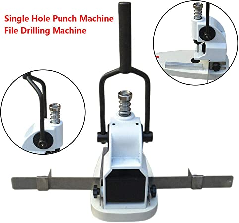 Manual Single Hole Punching Machine Album Paper Tags Hole Puncher Bookbinding Machine 10mm
