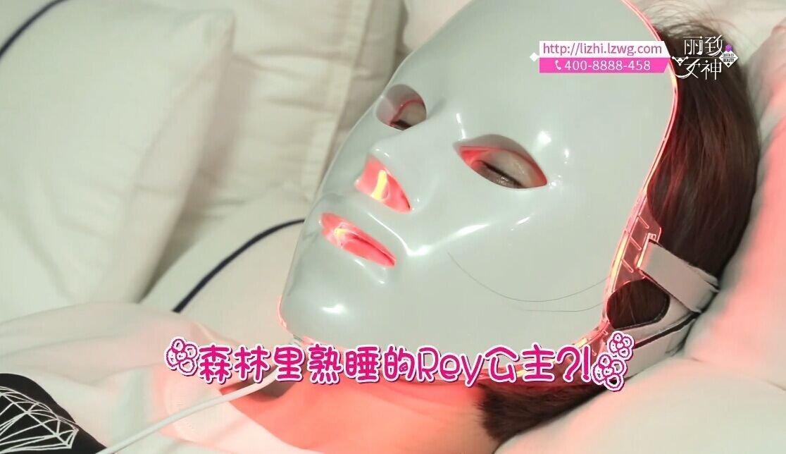 For Gift DEESSE Professional LED Beauty Mask, Home Aesthetic Mask, Self Skin Care, Only Red Color LED SBT-MASK-STD (Made in Korea) + LJH Vital Firming Hydrogel Mask Sheet 50pcs Set