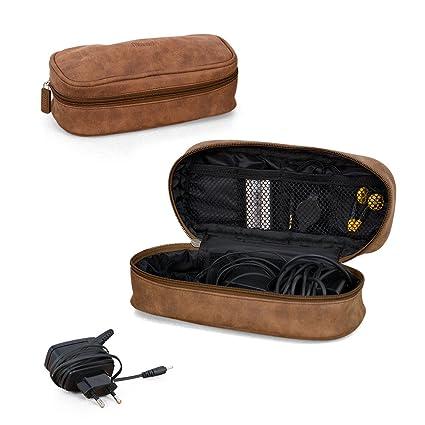 Balvi - Organizador de Cables lHédoniste. Estuche para Llevar los Cables y Cargadores. Gran Regalo para viajeros. Fabricado en Piel sintética.
