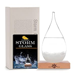 Storm Glass Weather Station Old Captain FitzRoy's Storm cloud Barometers Crystal Weather Forecast Bottle Desktop Decorative Bottles Crafts