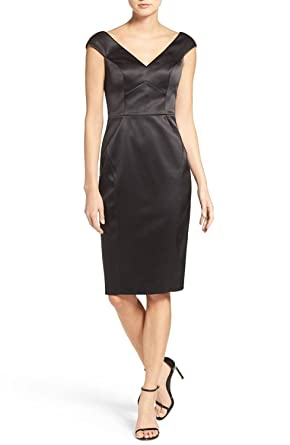 Satin Black Sheath Dress