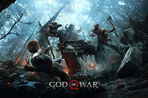 """Price comparison product image MCPosters God of War PS4 Poster GLOSSY FINISH - NVG158 (24"""" x 36"""" (61cm x 91.5cm))"""