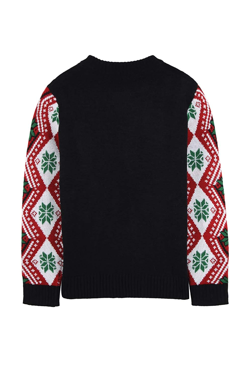 235c9c6fff9d Amazon.com  Pink Queen Women s Knitted Pullover Ugly Christmas Sweater  Jumpers  Clothing
