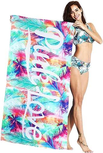 Mujer Toalla de Baño de Playa - Adulto 100% Algodón Secado Rápido Manta de Viaje Bebé Niños Nadando Surf Deporte Bañera Fiesta Cobija Dibujos Animados Impreso: Amazon.es: Ropa y accesorios