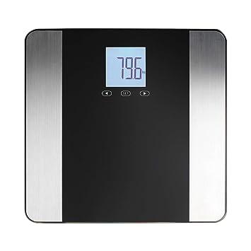 Báscula digital de pantalla LCD Báscula de análisis Peso hasta 180 kg Acero Inoxidable (Cuerpo