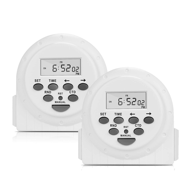 TOGOAL Light Timer Outlet,7 Day 24 Hour Digital Programmable for ...
