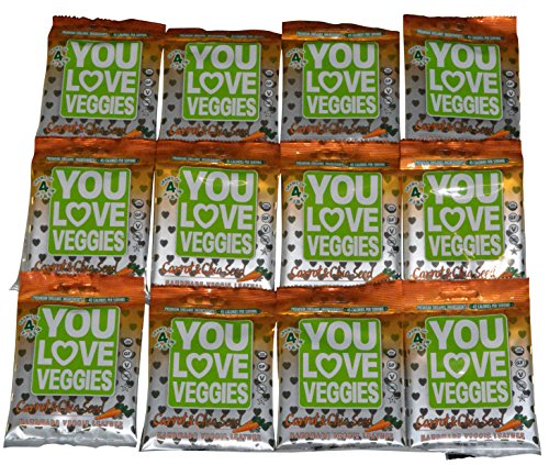You Love Fruit Veggie Leather Carrot Chia - 12 Pouches by You Love Fruit