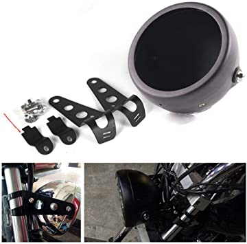 """5.75 inch LED Motorcycle Headlight with 5-3//4/"""" Housing Bucket Mount For Harley"""