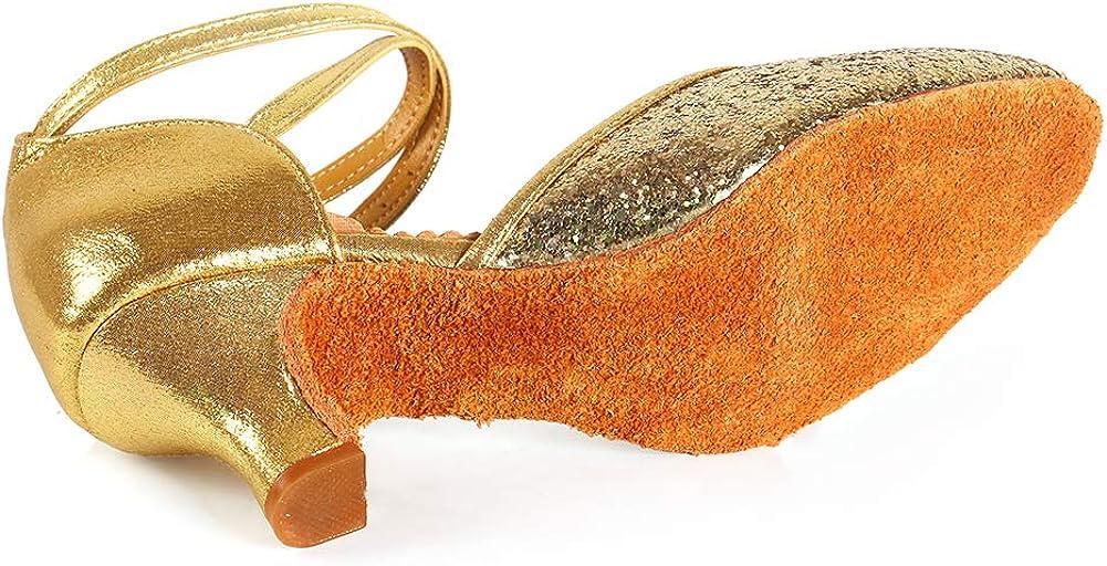 HIPPOSEUS Closed Toe Latin Salsa Tango Practice Performance Ballroom Party Wedding Dance Shoes,Model WX