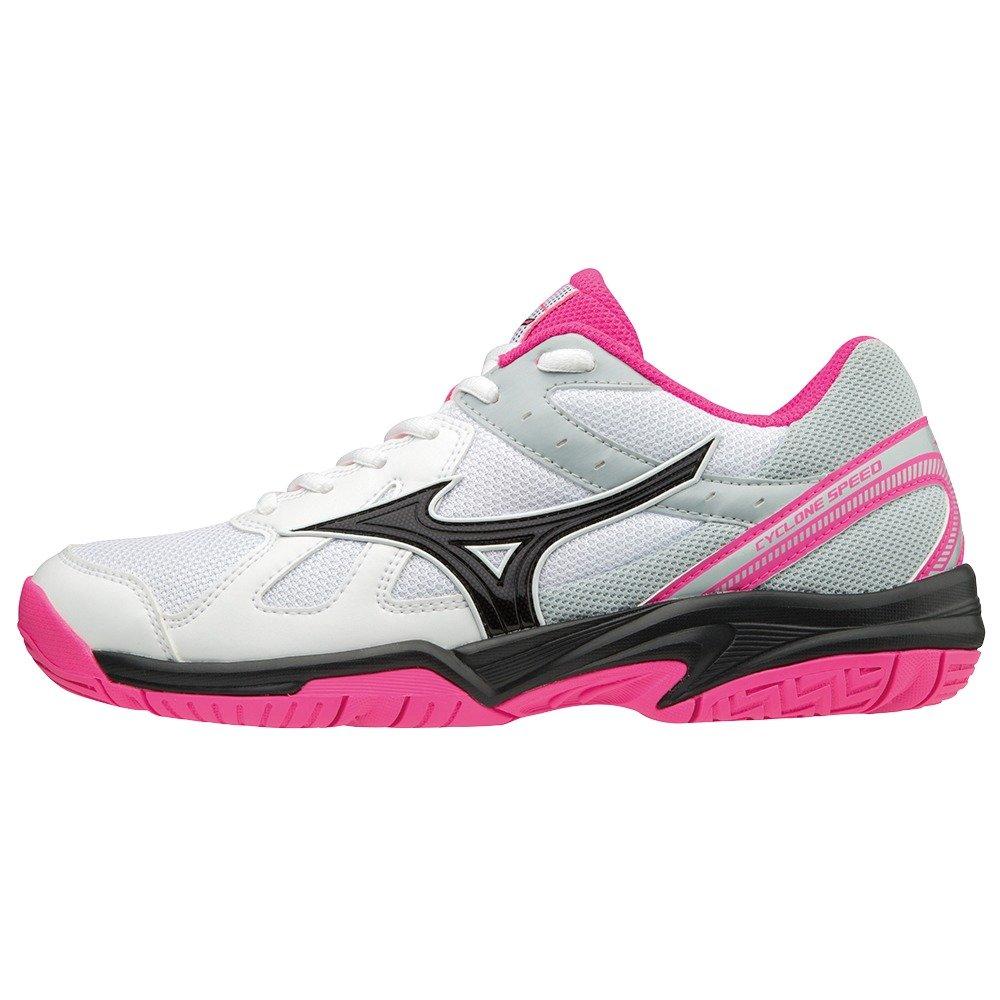 Mizuno Cyclone Speed, Zapatillas para Mujer 40 EU|Multicolor (White/Black/Pink Glo 001)