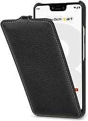 StilGut Housse pour Google Pixel 3 XL Ultraslim en Cuir, Noir